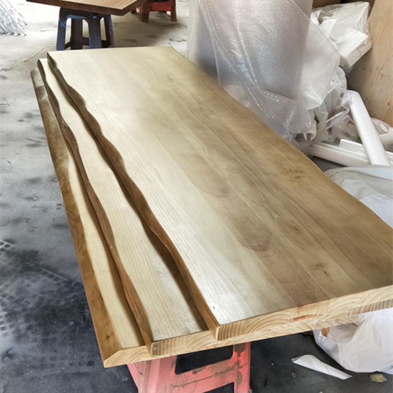松木原木长方形实木面板加长加厚定制 饭桌diy桌面板厚吧台大板