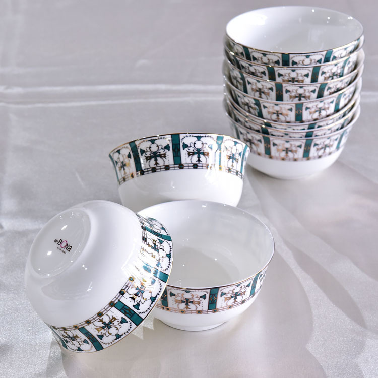 陶瓷餐具套装 实用骨瓷碗盘碟48头酒店礼品