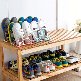 1449 multi-function two-in-one children's storage shoe rack 2 packs balcony drying rack drying shoes rack