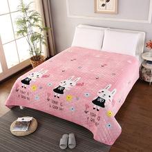 招代理法兰绒毯子珊瑚绒床垫防滑夹棉加厚榻榻米床单防皱折叠水洗