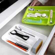 日本进口收纳盒抽屉整理盒餐具筷子调羹勺子储藏收纳盘分格收纳格