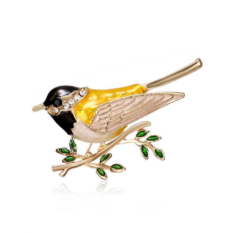 厂家直销 个性小鸟树枝胸针动物亚克力胸针饰品 衣饰胸花胸针批发