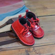 男童棉鞋2018新款冬季加绒加厚女童冬鞋儿童二棉鞋潮童靴子宝宝鞋