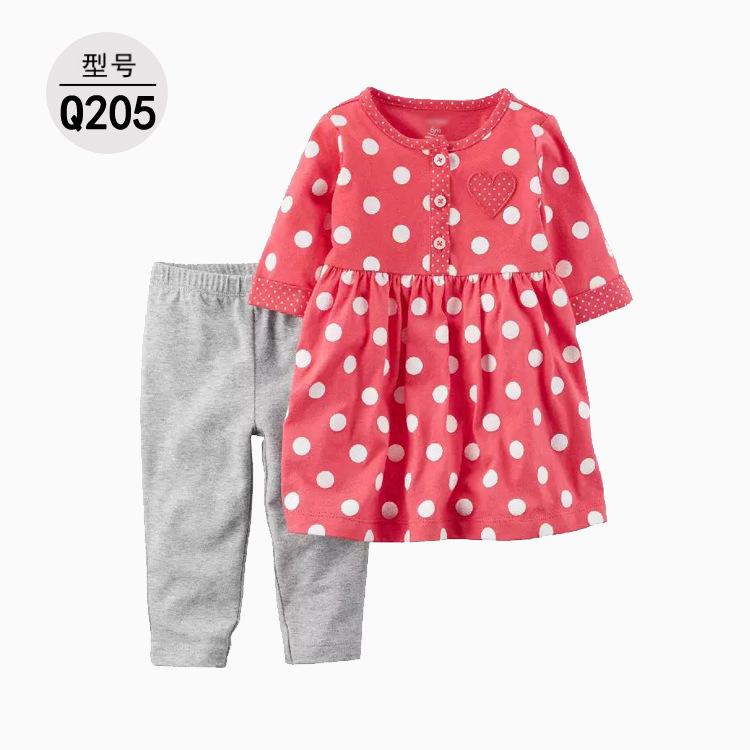 2020 طفل حديث الولادة الربيع والخريف الإناث قميص طفل طماق تي شيرت قطعتين تعيين وكيل واحد