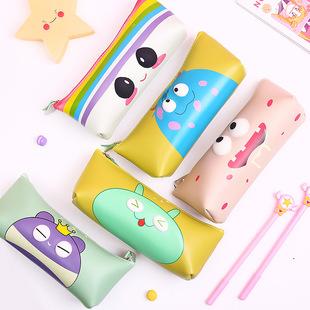0313 manufacturers custom-made Korean version of cute eye pencil case cute waterproof holding stationery bag cartoon three-dimensional pencil case stationery bag