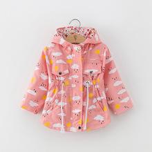 跨境專供2019童裝春秋新款外套女童風衣兒童上衣夾克一件代發童裝