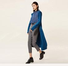 新品女士秋冬韓版寬松連帽針織衫 女超長款過膝外套羊毛針織開衫