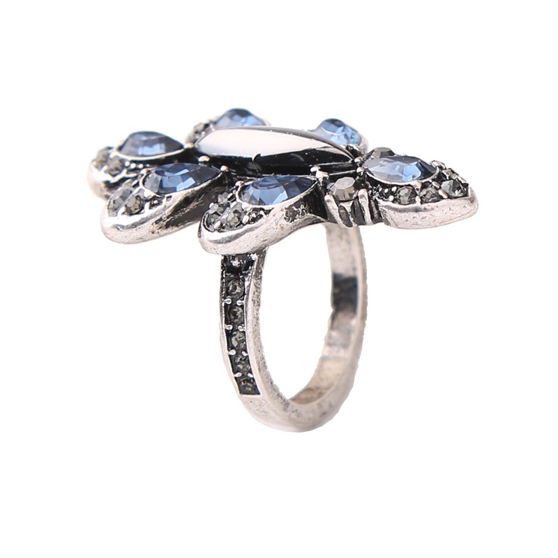 Alloy Fashion Flowers Ring(Photo Color) NHQD5186-Photo Color
