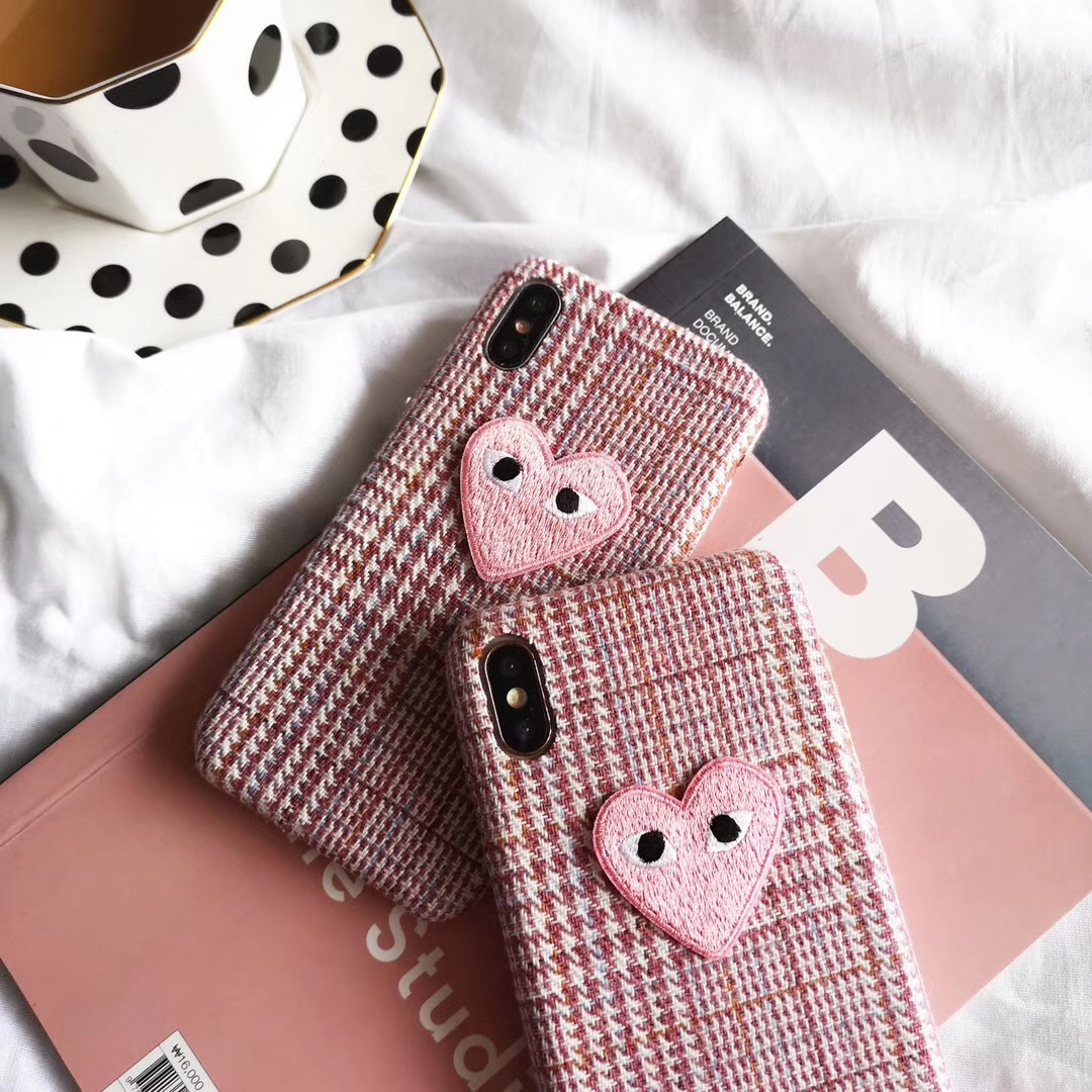 Three-dimensional plush love iphoneXSmax mobile phone case for Apple 8plus flannel autumn and winter new female models soft