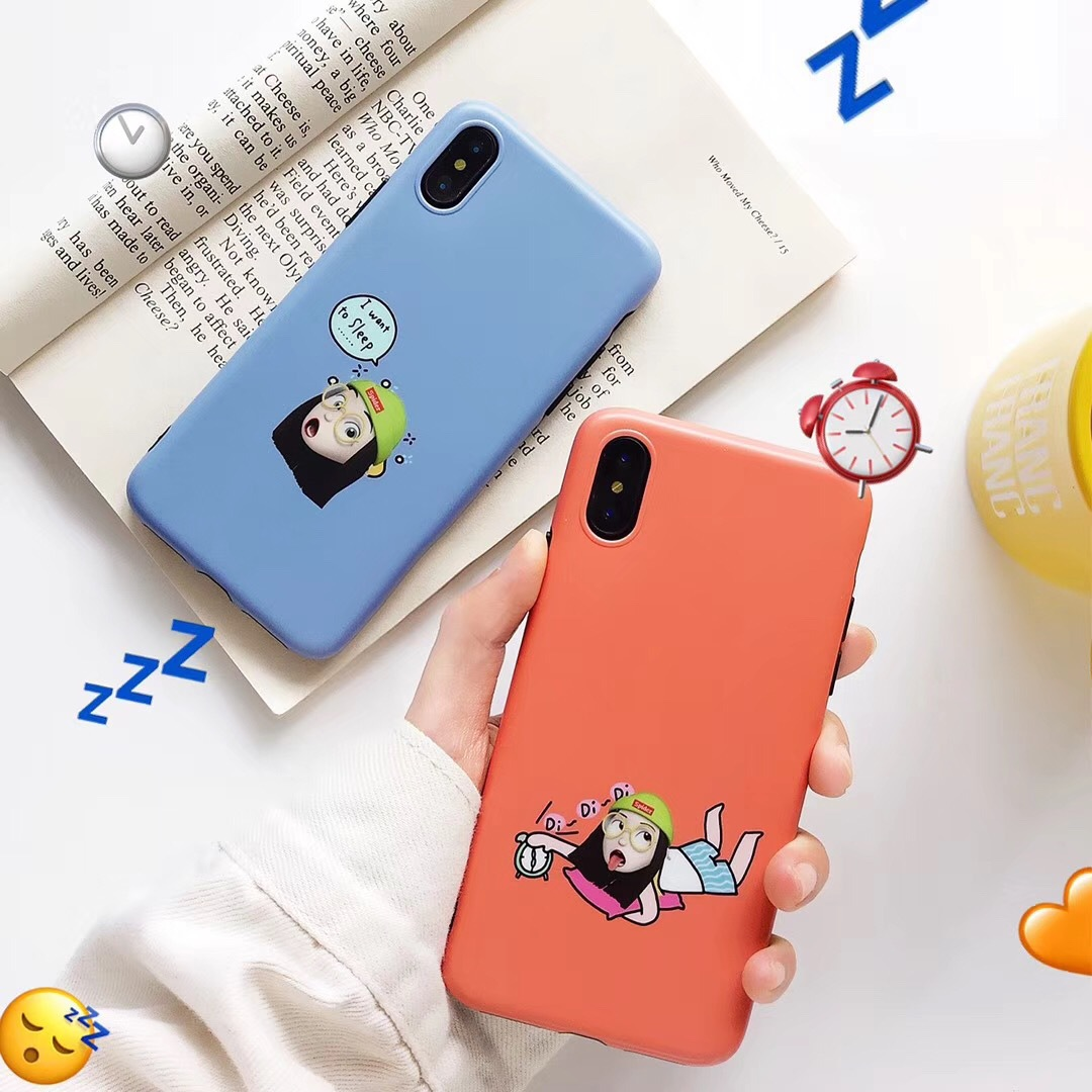 Cute cartoon expression Apple Xs mobile phone case for iPhoneXmax/XR all-inclusive silicone 7/8Plus soft shell