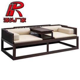 新中式罗汉床 实木沙发现代客厅布艺床榻中式罗汉床禅意家具厂家