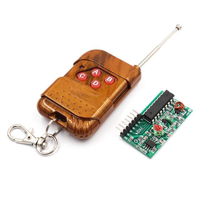 2262/2272四路无线遥控套件M4非锁接收板 配四键无线遥控器