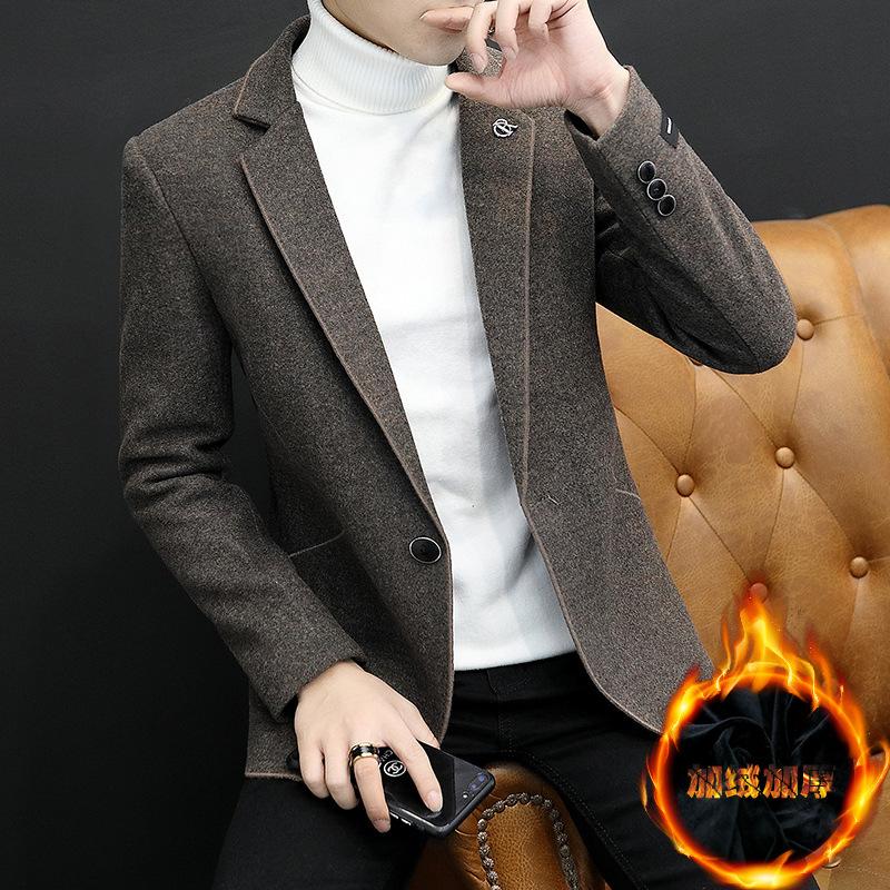 男男无?9d#9?)??i_男风衣2018冬季新款韩版修身男式毛呢大衣青年帅气男装外套上衣服
