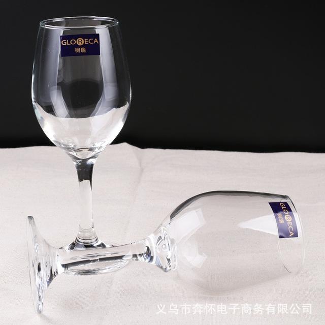 Kerry GL3057 hai hộp quà tặng với minh bạch Pha Lê-miễn phí rượu vang đỏ chiếc cốc chỗ bán buôn 320ml Bộ rượu