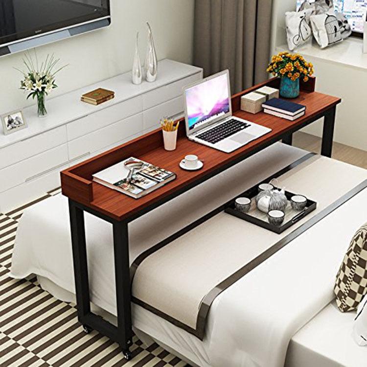 跨境爆款可移动跨床桌子笔记本床上电脑桌懒人桌双人桌床边可定制