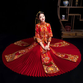 Xiuhe suit New Chinese Wedding dress Bride's Ancient Wedding dress, toasting dress, Wedding dress