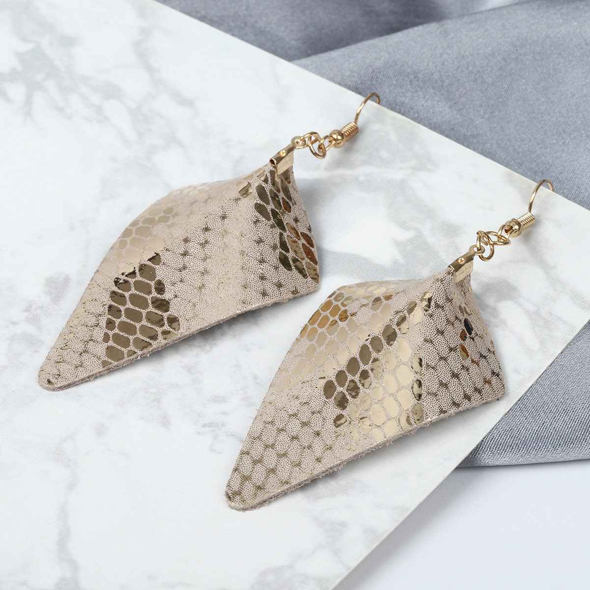 Alloy Fashion Geometric earring(Leopard) NHXR2398-Leopard