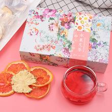 从仁堂网红水果茶盒装水蜜桃雪梨片组合水果片茶批发OEM代加工