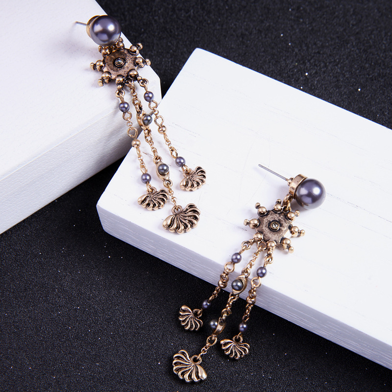 Alloy Fashion Tassel earring(Photo Color) NHQD5125-Photo Color