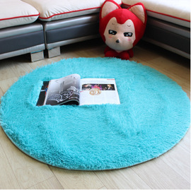 Wool round Carpet Fitness Yoga Mats Basket Wicker Chair Computer Cushion Living Room Bedroom Cute Bed