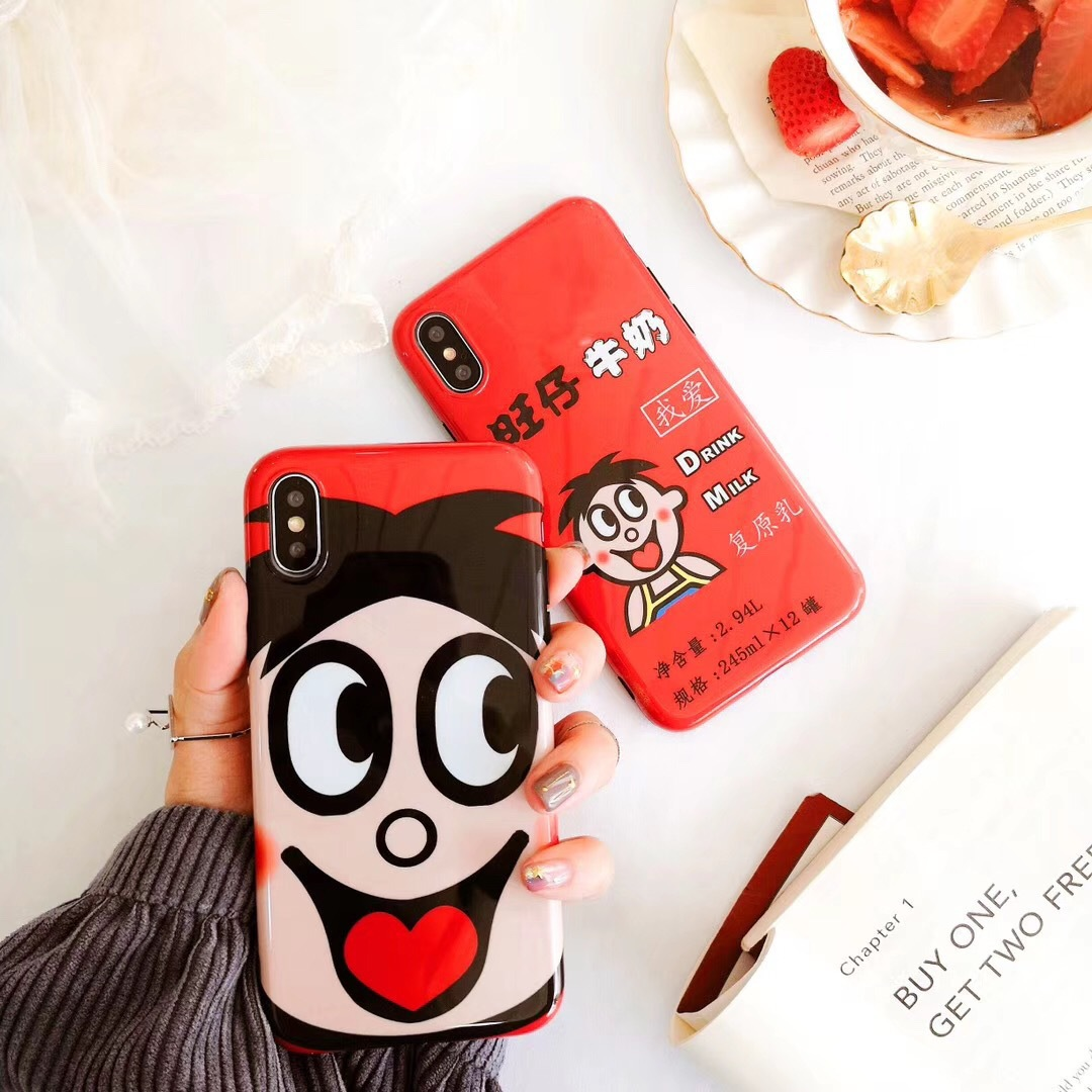 Spoof cartoon Wang Tsai for iPhone7plus mobile phone shell Apple X/8 personality all-inclusive anti-fall cute men and women