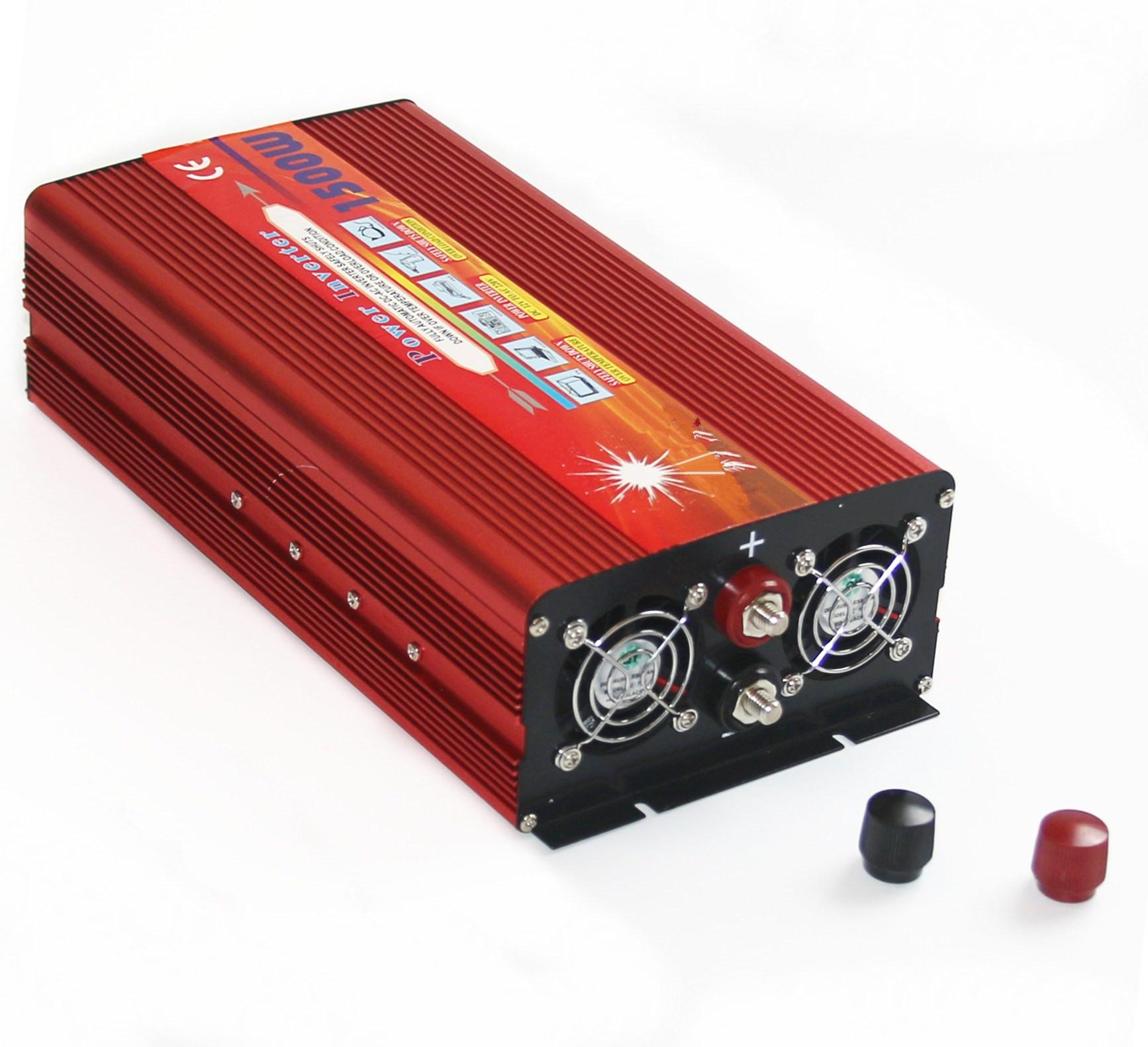 厂家直销 修正波大功率逆变器 12V24V1500W双风扇家用逆变器