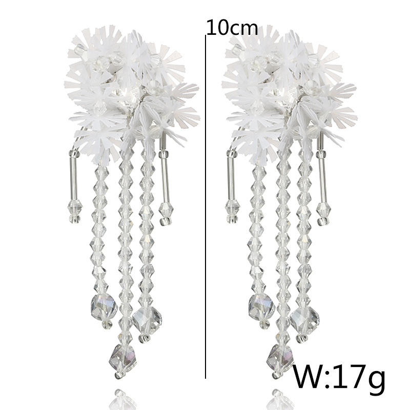 Alloy Korea Flowers earring(white) NHGY1692-white