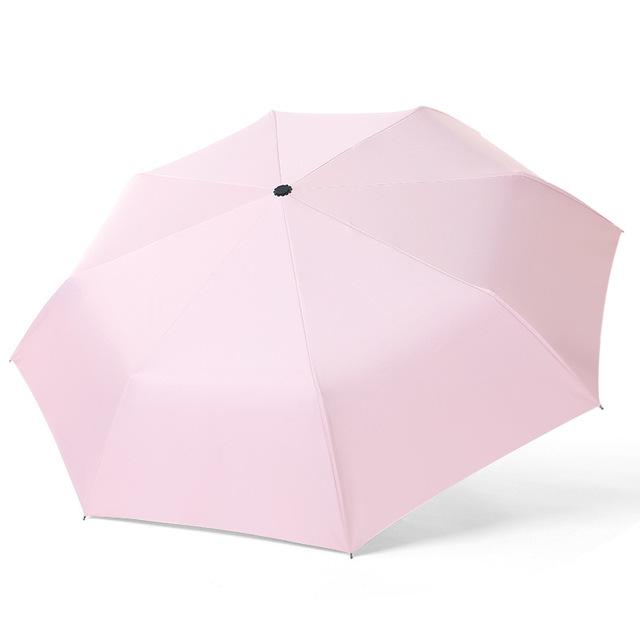 hợp kim nhôm siêu nhẹ tự động ba gấp mưa ô hay nắng kép sợi Logo quảng cáo bóng gió ô ô tùy chỉnh Ô tự động