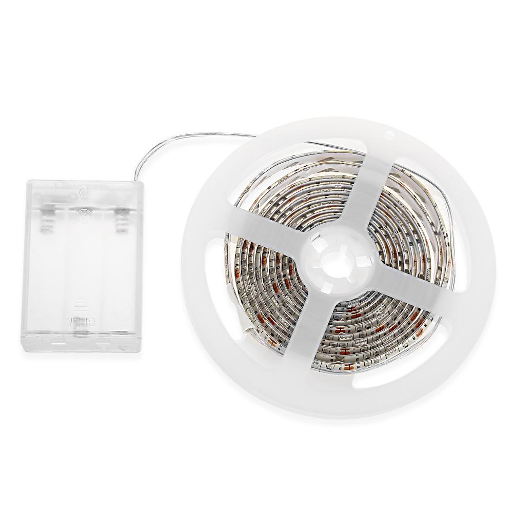 電池盒LED燈帶 3528 4.5V 裸板裝飾戶外燈舞臺燈白暖綠藍紅