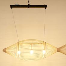 廠家直銷魚形竹子吊燈火鍋店個性酒吧咖啡館餐廳鄉村主題一件代發
