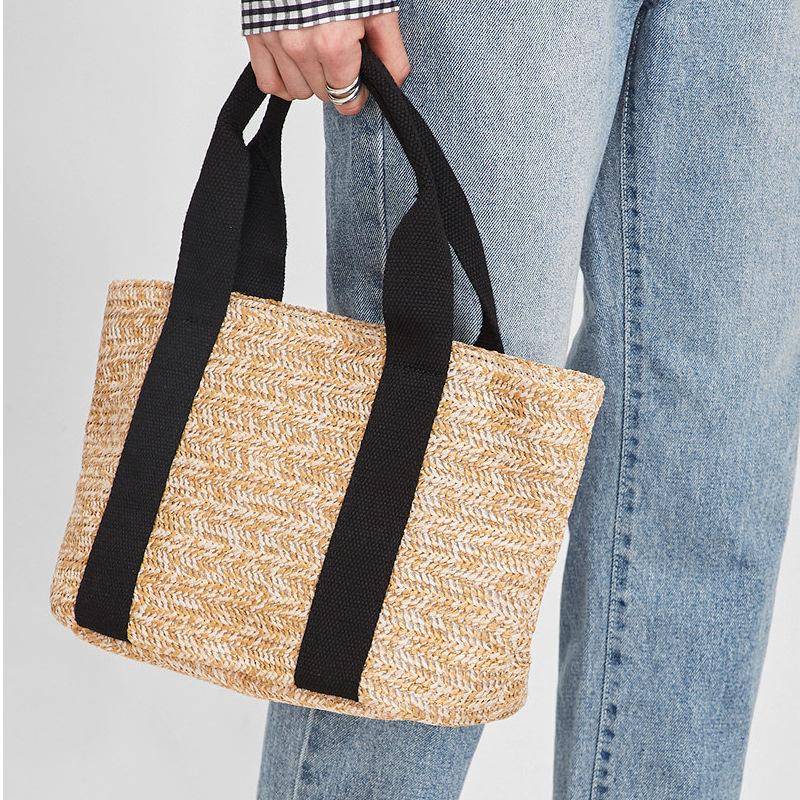 2020夏季新款菜篮子草编包 波西米亚风格沙滩包渡假休闲女包
