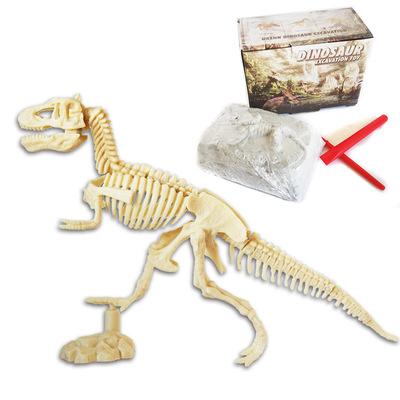 拼裝恐龍骨架考古挖掘玩具 仿真化石模型手工主題公園活動禮品