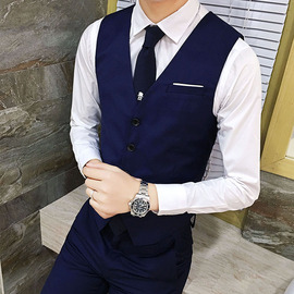 Best man suit spring and autumn wedding brotherly tuxedo suit vest three-piece suit men's wedding dress fit