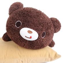 日本正版巧克力熊猫布娃娃女孩睡觉抱枕可爱毛绒玩具小熊玩偶女友