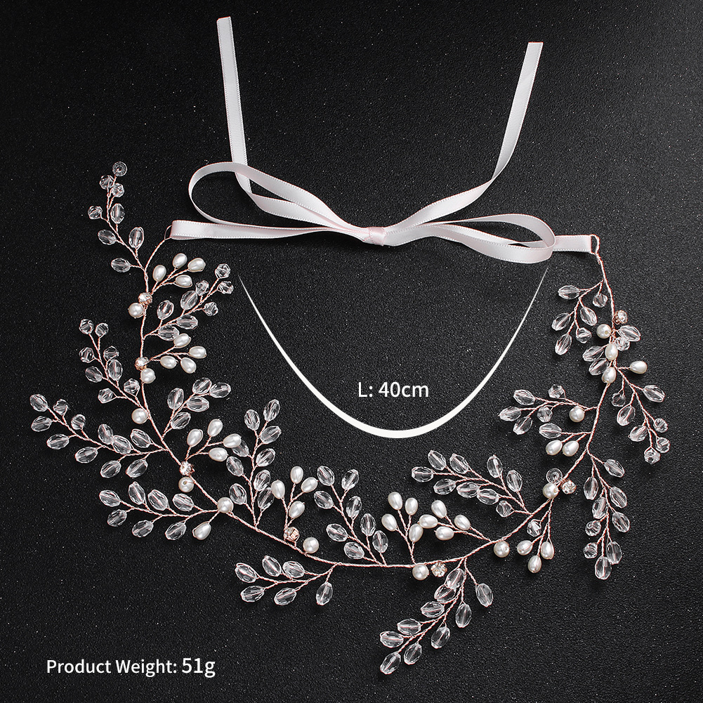 Imitated crystal&CZ Fashion Geometric Bridal jewelry  (Rose Alloy - Rose Alloy) NHHS0516-Rose-Alloy-Rose-Alloy