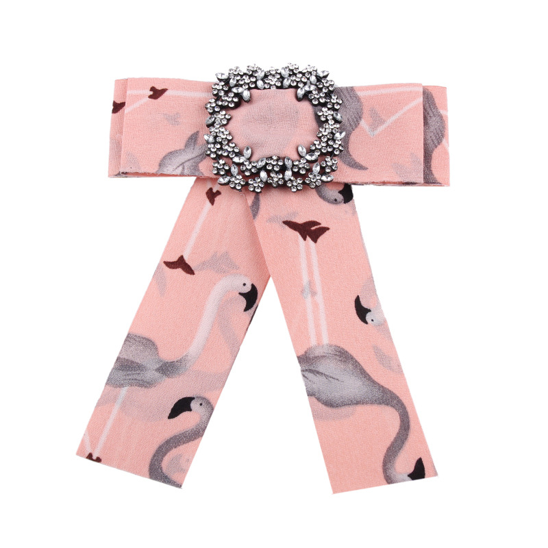 Alloy Korea Bows brooch(Pink flowers) NHJQ10118-Pink flowers