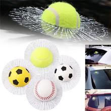 创意透明3D仿真网球车贴 个性球砸玻璃装饰网球玻璃汽搞笑车贴纸