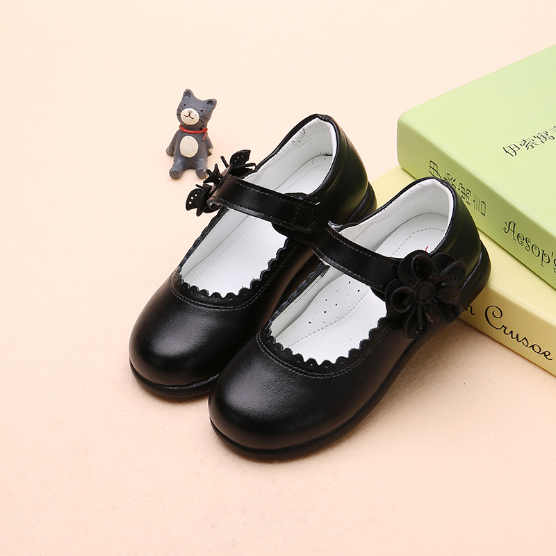 Children's shoes, girls' leather shoes,...