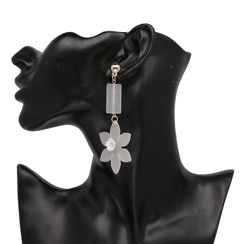 Plastic Fashion Flowers earring(50787) NHJJ4669-50787