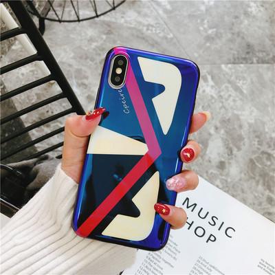 New Tide thương hiệu sáng tạo iphone painted vỏ điện thoại di động IX Blu-ray phim hoạt hình Apple 8 tay áo bảo vệ để bản đồ tùy chỉnh