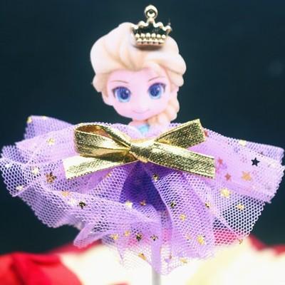 蛋糕插牌冰雪奇�艾莎公主唯美�裙蛋糕�b�插牌 甜品�_派�Σ迤�