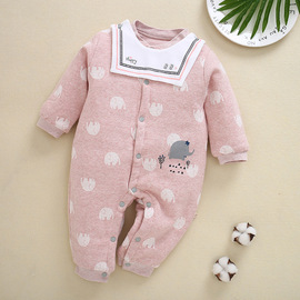 Infant clothes baby baby onesies haber autumn and winter clothes newborn children's long-sleeved cotton clothes