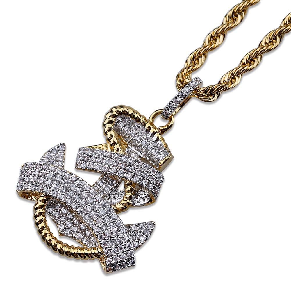 1f4f73c61 Wholesale Iced Out Chains Pendant Designer Necklace Hip Hop Jewelry ...