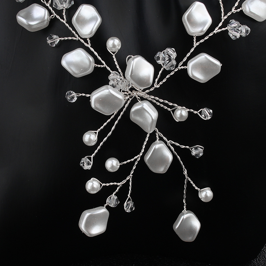 Alloy Fashion  necklace  (white) NHHS0200-white