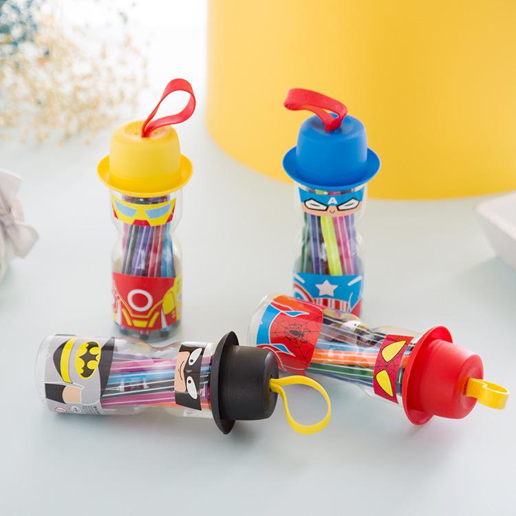 批发新款创意可水洗彩笔环保配方儿童学生礼品多色画画笔工具套装