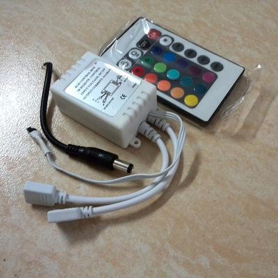 厂家直销 24键IR红外双输出线LED控制器大MOS双面板RGB控制器爆款