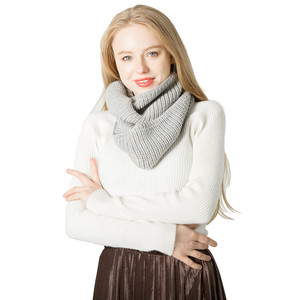 Seasonal woolen bib yuanbaohua two loop knitted scarf Bib Tonglu