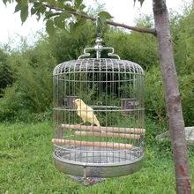 趣味批發現貨不銹鋼鳥籠迷你小型鳥不銹鋼鳥籠子綉眼籠子洗澡籠