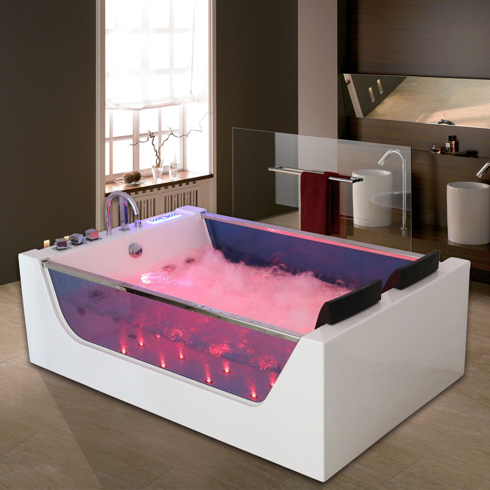 Luxury Whirlpool Bath 20 Jacuzzi Massage Jets Shower SPA 2 Person ...