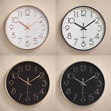 塑料静音挂钟 创意时尚客厅立体数字刻度挂钟 钟表批发 12寸30CM